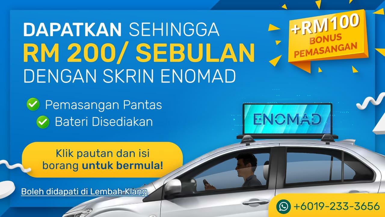 ENORMAD LED Ads Program for E-Hailing Driver